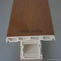 Wooden Color High Quality UPVC Window Profiles
