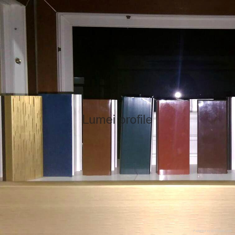 Upvc window profiles with different colors 60 series for Upvc company