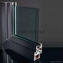 pvc  window profile with different series