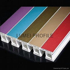 upvc window profiles in different color