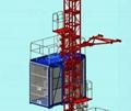 SC100/100 2*1000KGS double cage construction hoist