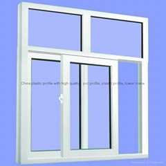 China plastic profile with high qualtiy pvc profile for High quality windows
