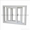 Customized 6mm Double Glazed White PVC Profile Window/Plastic Double Panel Windo
