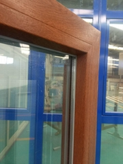 Customized 6mm Double Glazed White PVC Profile Window/Plastic Double Panel Windo