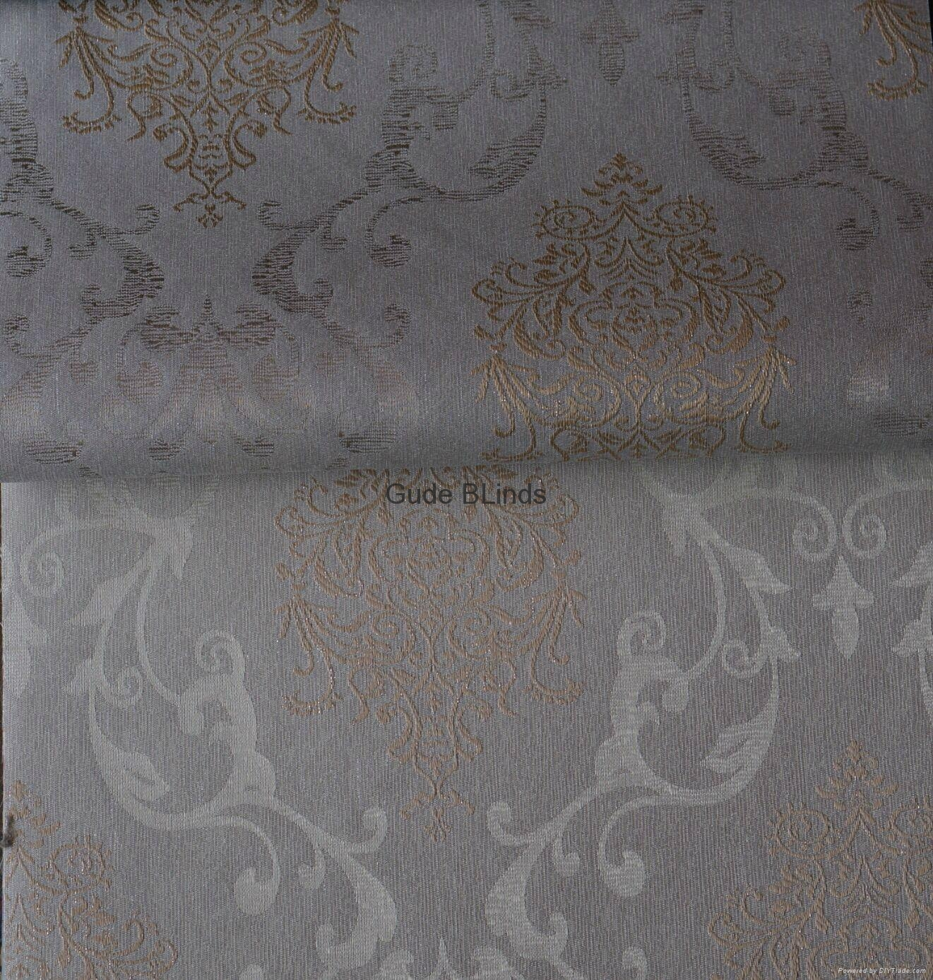 silver yarn dyed jacquard roller blinds fabric 5