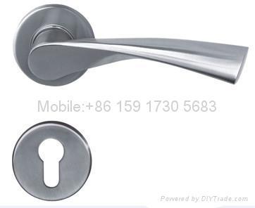 Solid Stainless Steel Lever Door Handle