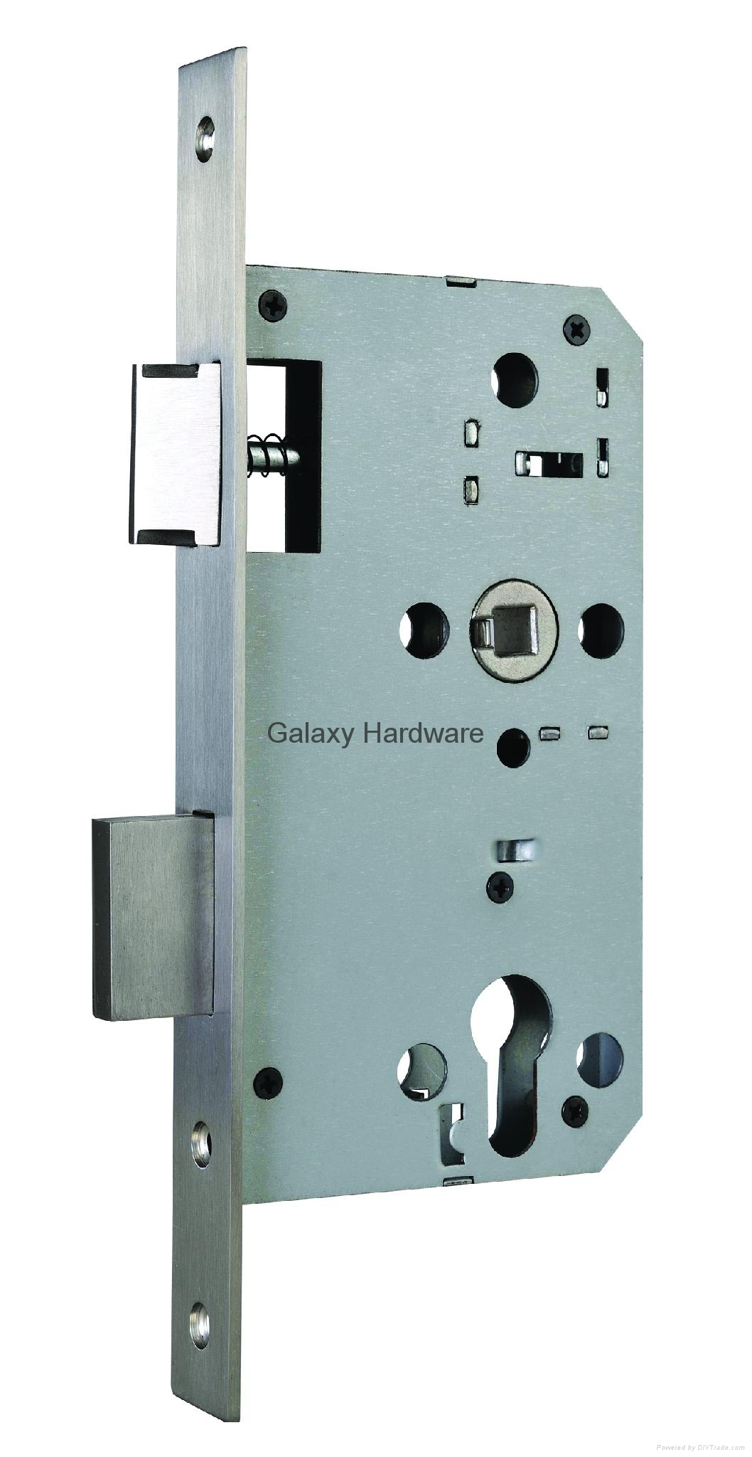 Mortise Lock, Mortise Sash Lock, 55mm Backset, 72mm Centers, CE  1