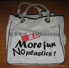 可绣花丝印LOGO帆布包袋