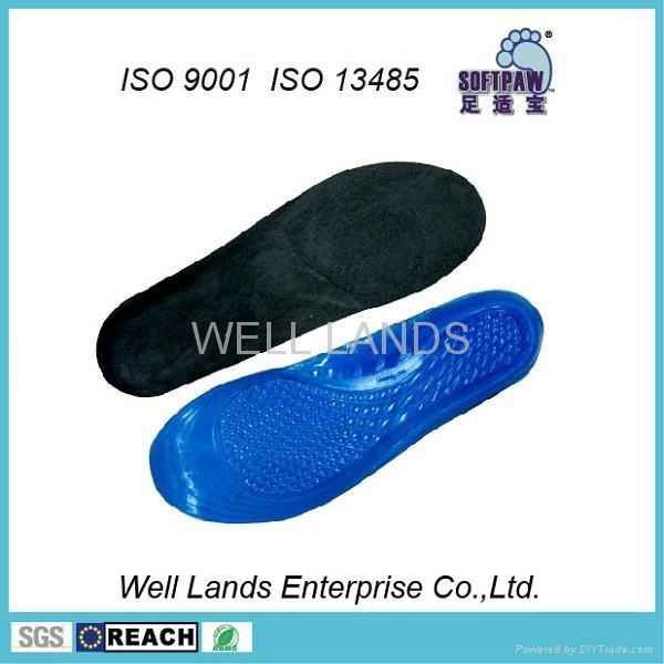 软凝胶天鹅绒鞋垫 - FC-TPE-F002 1