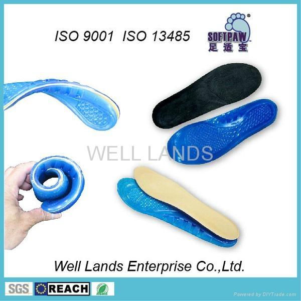 软凝胶天鹅绒鞋垫 - FC-TPE-F002 4