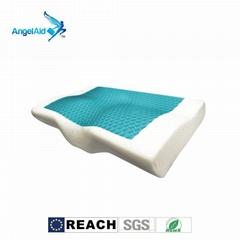 蝶型凝胶记忆枕头