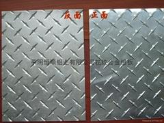生产五条筋花纹铝板