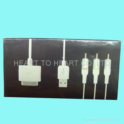 iphone  AV  cable 4