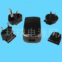 USB 可換插頭充電器