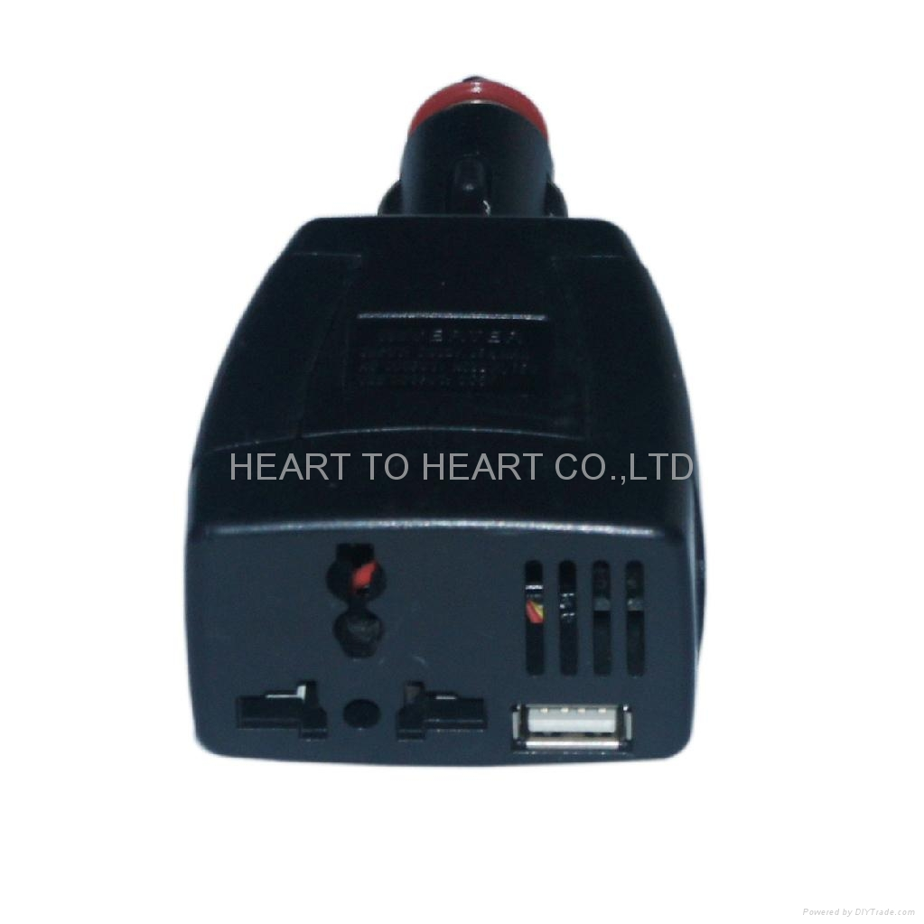 75w power inverter car laptop notebook phone mp3 charger l x pi001 heart to heart china