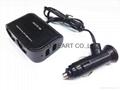 DC 12V/24V 2 Socket 1 USB Port Adapter Splitter Car Cigarette Lighter Charger 1