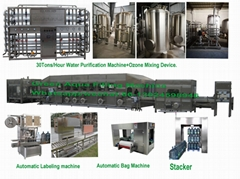 1500-3000BPH 5gallon Complete water filling line