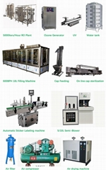 600BPH 10L Water Filling Line