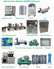 2000BPH  Bottle Filling Machine Factory