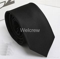 Black Woven Necktie