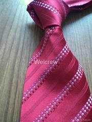 Red Stripe Necktie