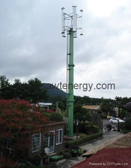 residential vertical axis wind power turbine 3000w 3
