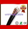 With two telephone cables rg6 coaxial cable 1