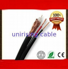 With two telephone cables rg6 coaxial cable