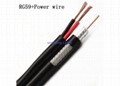 With two telephone cables rg6 coaxial cable 2