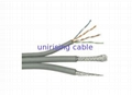 RG6BC with 26AWG UTP CAT5E Lan Cable ,