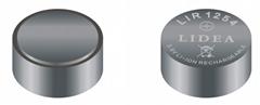 1254可充锂离子蓝牙耳机纽扣电池LIDEA品牌