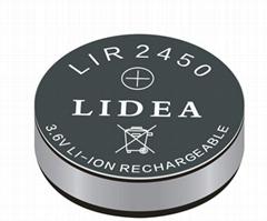 3.6V锂离子电池通过ROHS认证 LIR2450