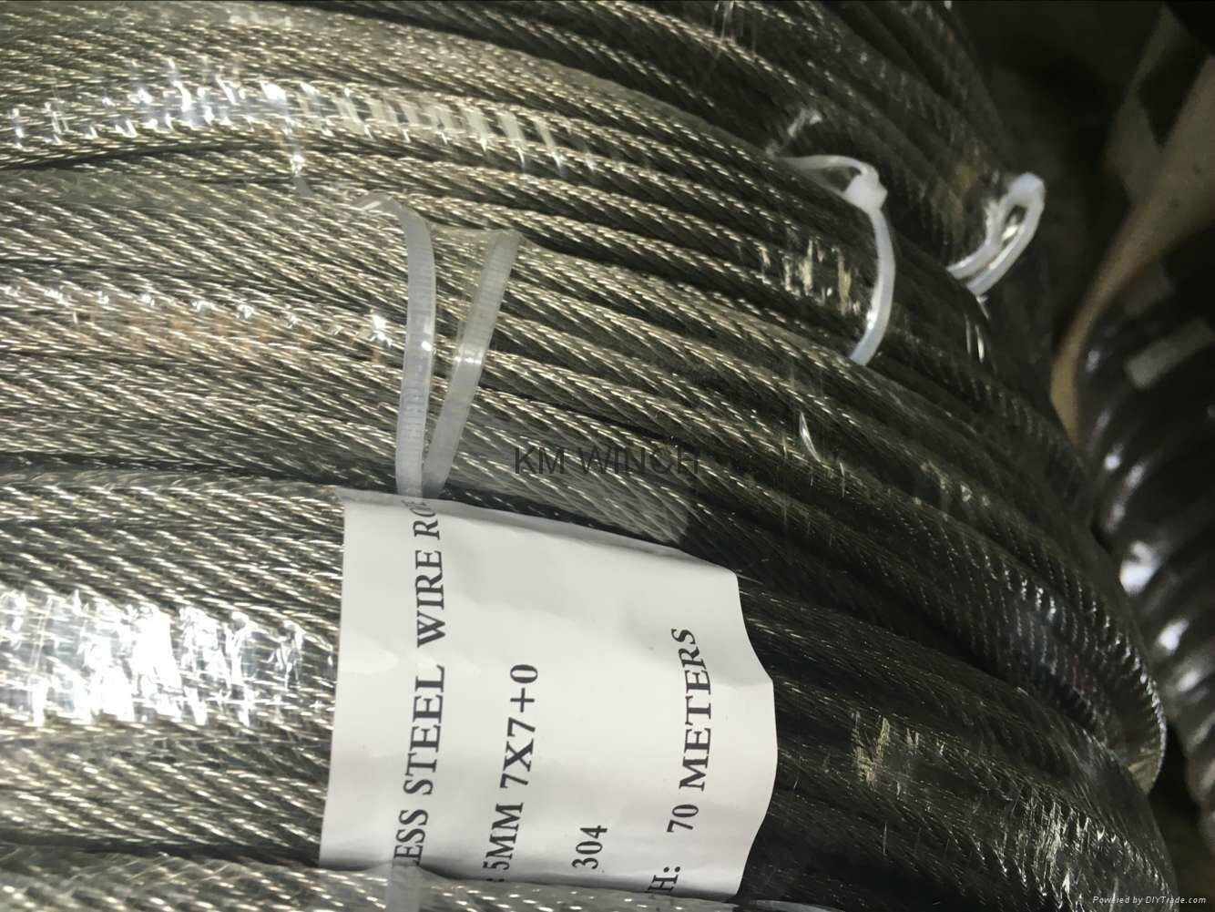 Galvanized wire Rope and Stainless steel wire Rope 3