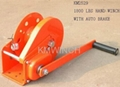 1800 lbs hand winch with auto brake