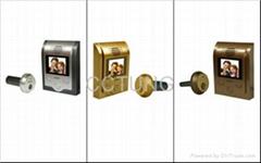 Peephole video doorbell