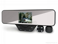 3.5 inch TFT HD rearview mirror car camcorder with Dual Rotatable IR camera 1