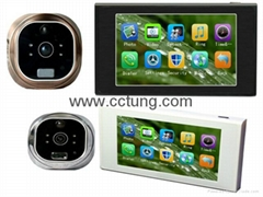 GSM Peephole Video Doorbell with 4.7inch Touch Screen