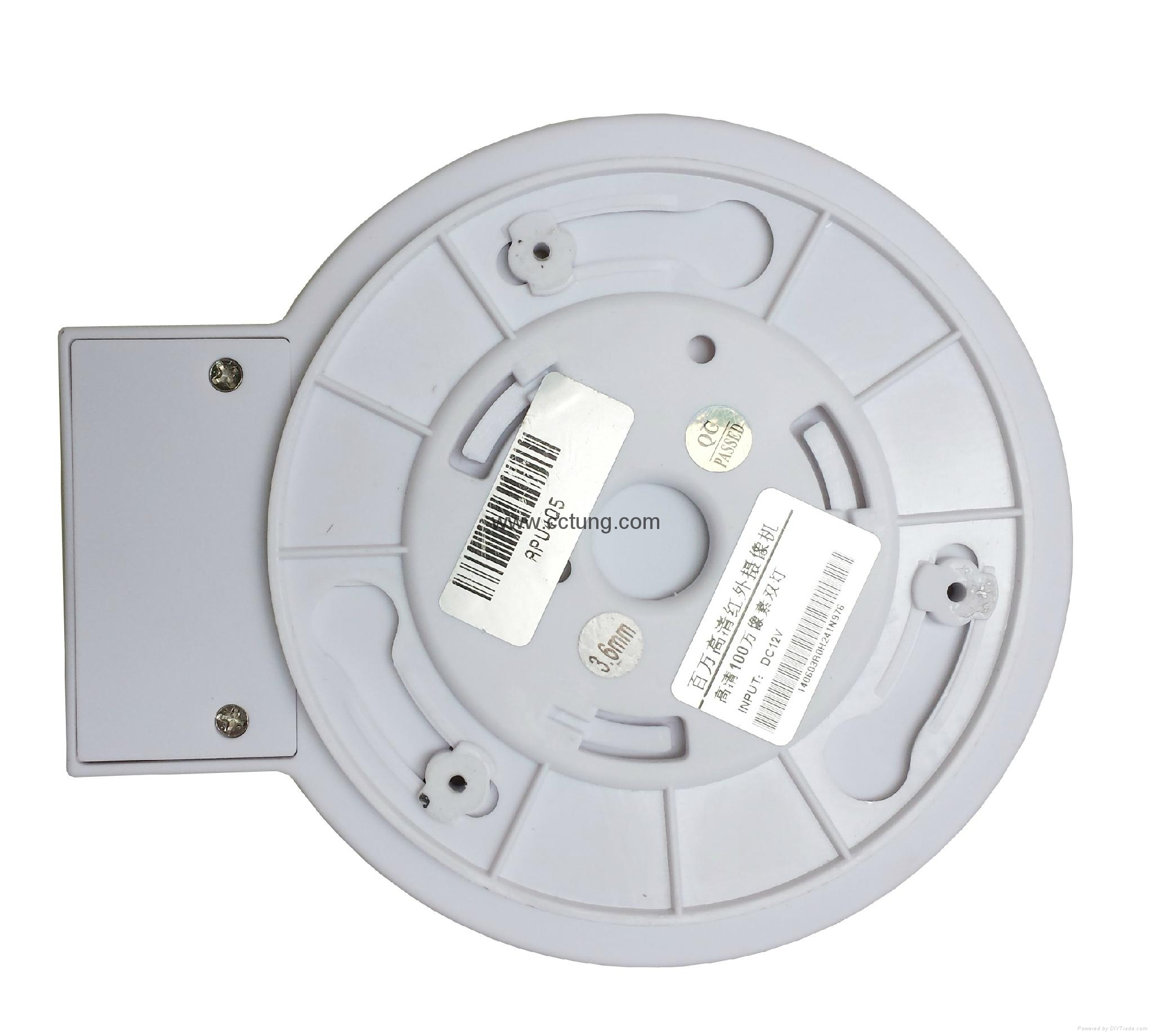 """1/3"""" CMOS progressive scan Image Sensor Megapixel HD IR Mini Dome Camera 2"""