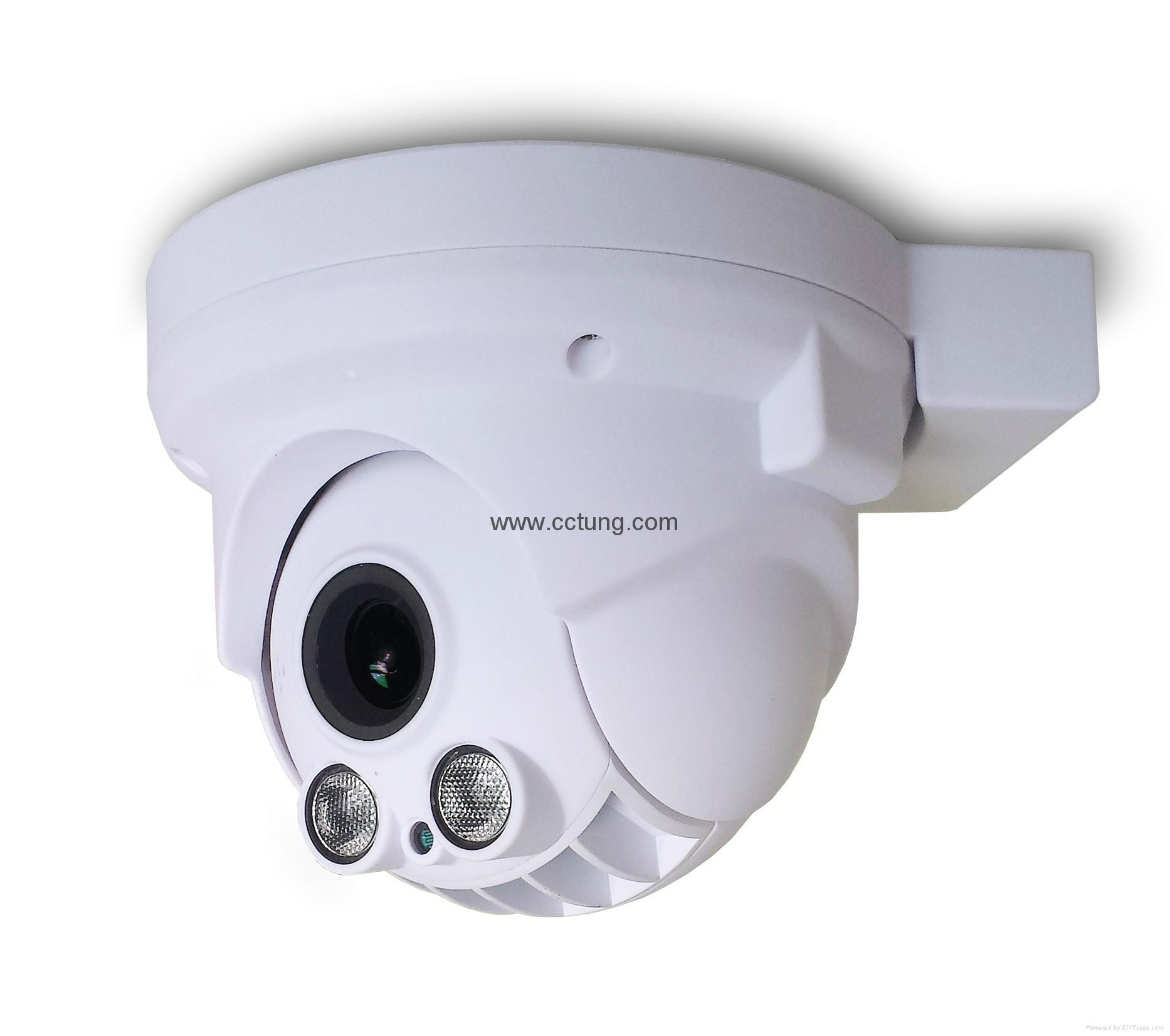 """1/3"""" CMOS progressive scan Image Sensor Megapixel HD IR Mini Dome Camera 4"""