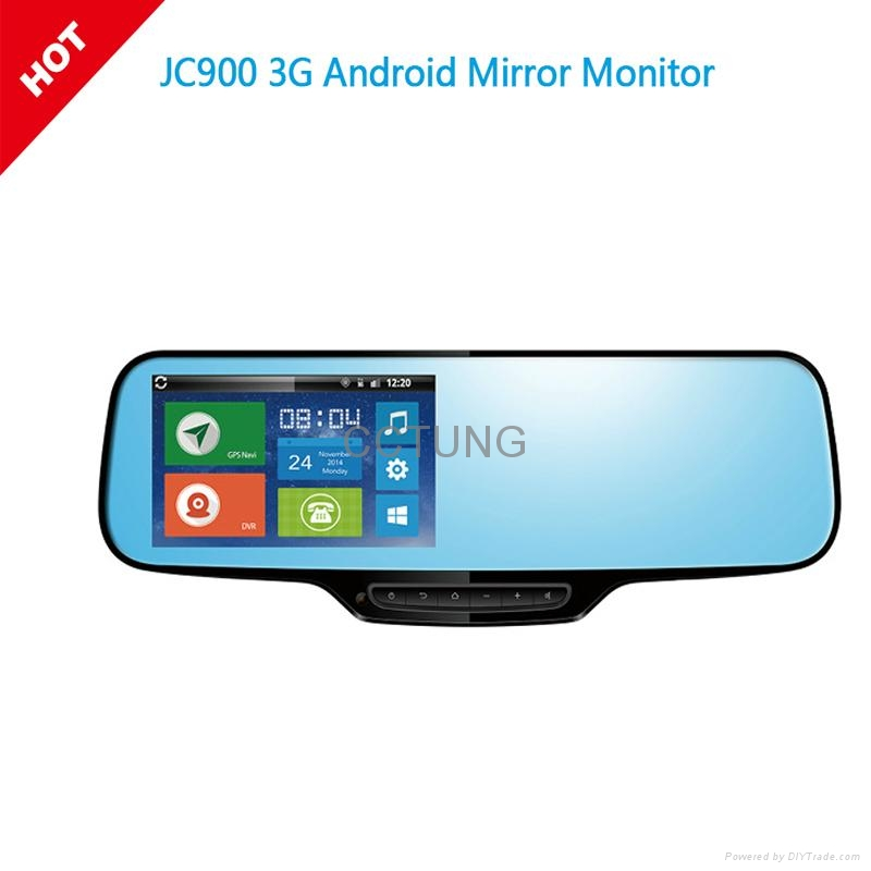 Full HD 1080P 3G Android Google Navigation Rearview Mirror Camera 1