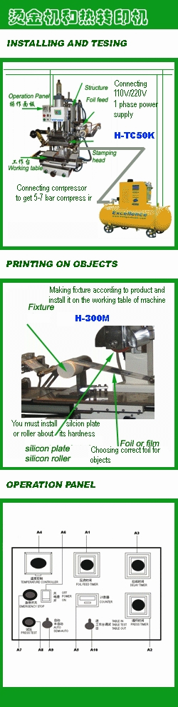 Installing gilding machine