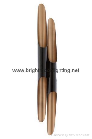 設計師delightfull Coltrane后現代客廳吧台斜口鋁管壁燈 BM-3030W 1 2