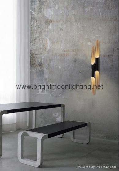 設計師delightfull Coltrane后現代客廳吧台斜口鋁管壁燈 BM-3030W 1 5