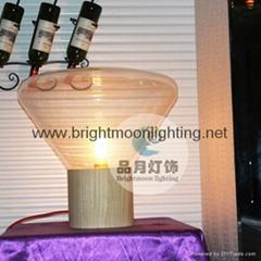 現代 經典 Muffins 木頭 玻璃 捷克 臺燈 BM-3008T  B