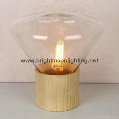 現代 經典 捷克 木頭 玻璃 臺燈 BM-3008T  S