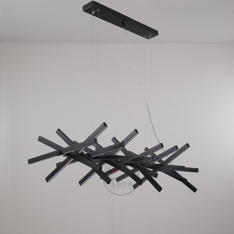 北歐現代經典餐廳魚骨客戶廳排骨吊燈 1