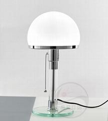 北歐后現代經典玻璃客廳床頭臺燈