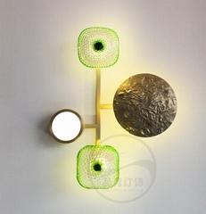 北歐現代經典全銅 &玻璃 LED 壁燈