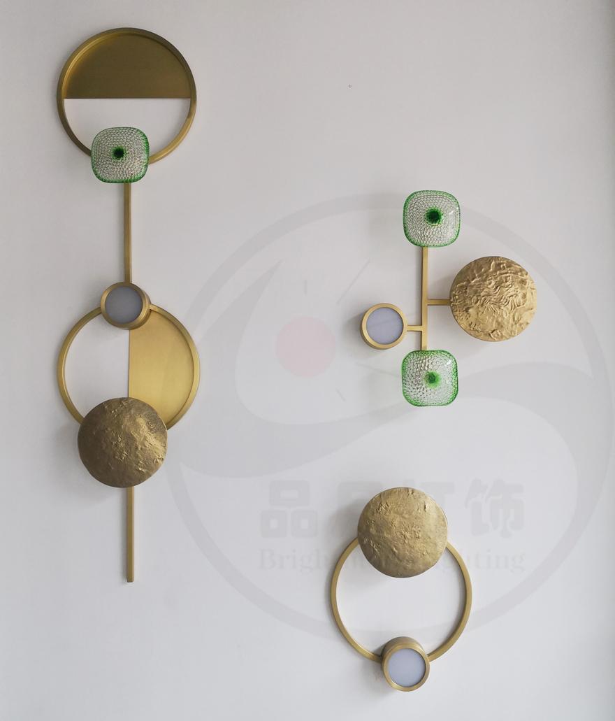 北欧现代经典全铜 &玻璃 LED 壁灯  2