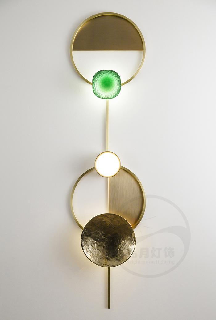 北歐現代經典全銅 &玻璃 LED 壁燈  1
